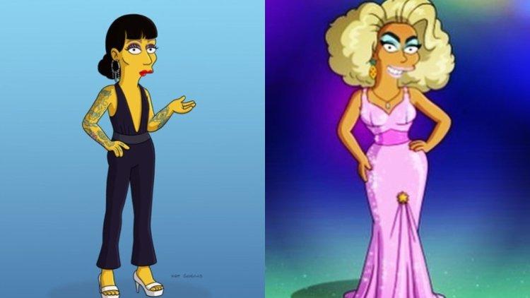 ルポールとRajaがアメリカ人気アニメ「The Simpsons」デビュー!